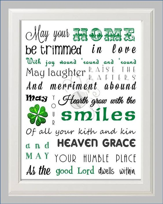 Irish House Blessing Poem Print Art By Kaybee Studios On