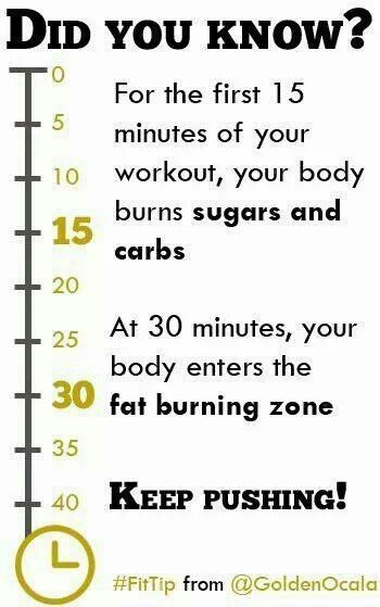 Did you know...fat burning zone...for an aerobic workout like running, walking, step class etc...(via The Biggest Loser FB)