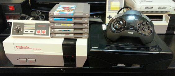 Console Nes et Console Saturn