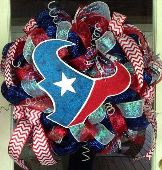 Houston Texans Wreath by HighMaintenanceDes on Etsy, $110.00