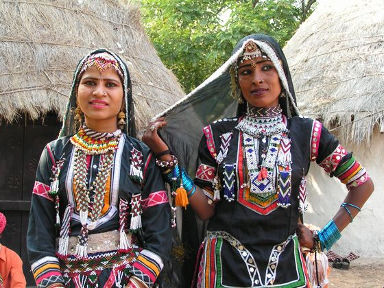 Tribal women in a village outside Udaipur - Rajasthan, India