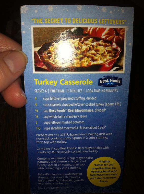 Leftover thanksgiving casserole