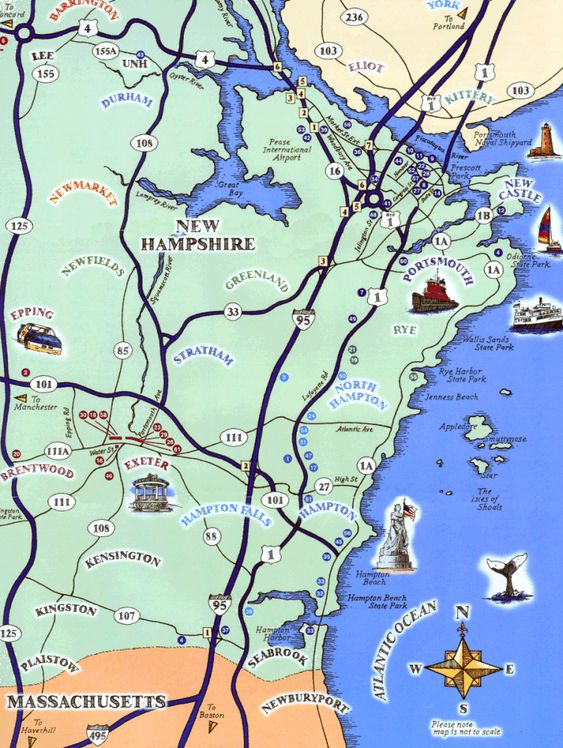 Seacoast NH – New Hampshire Tourist Attractions Map