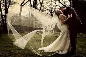 Love the way the veil is billowing out behind her