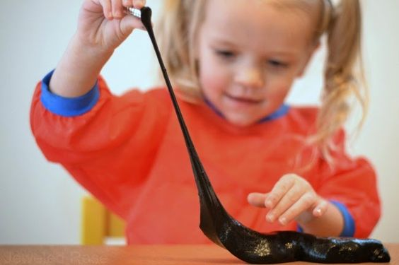 Magnetic Slime Recipe- this stuff takes minutes to make & is a sure way to WOW the kids