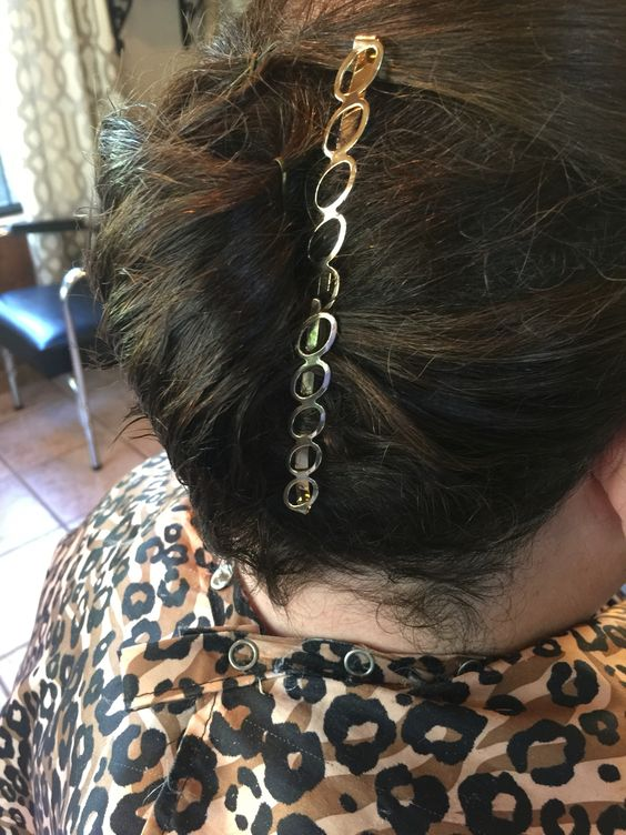 French twist with Bobby pins from Charming Charlie's