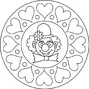 Mandala Clown Sydamen Ausmalbilder Faschingsmasken Basteln Ausmalbilder Fasching