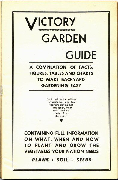 Victory Garden Guide Free PDF Aprons and Cammies