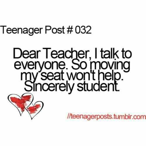 Haha this was so me in mrs hall's science class…me and jennie pirtle were her chirping birds she said hahaha