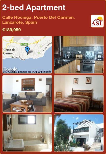 2-bed Apartment in Calle Rociega, Puerto Del Carmen, Lanzarote, Spain ►€189,950 #PropertyForSaleInSpain