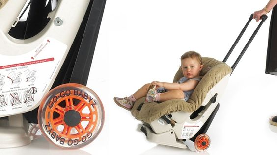 Travelmate Car Seat Carrier - easily attach your carseat and use as a stroller at the airport.