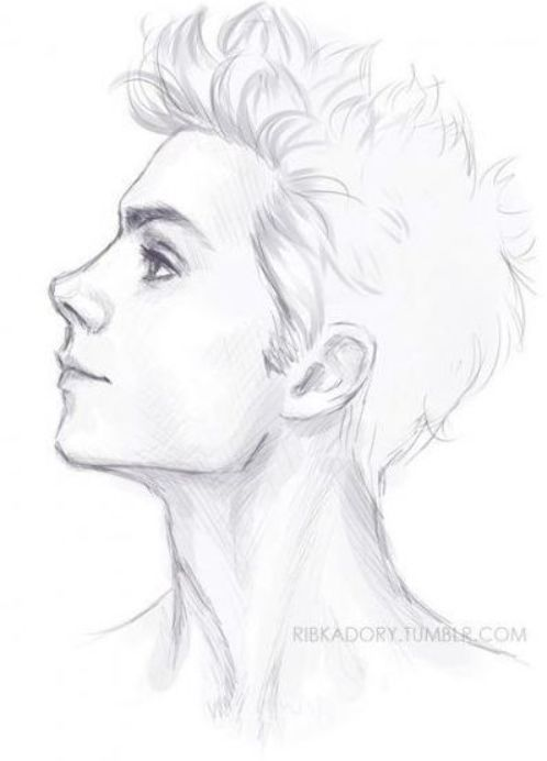 New Drawing Hair Male Profile 55 Ideas Hair Drawing Dibujos