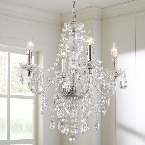 Ice Palace 4 Light Candle Style Classic Traditional Chandelier Chandelier Bedroom Candle Style Chandelier Dining Room Chandelier