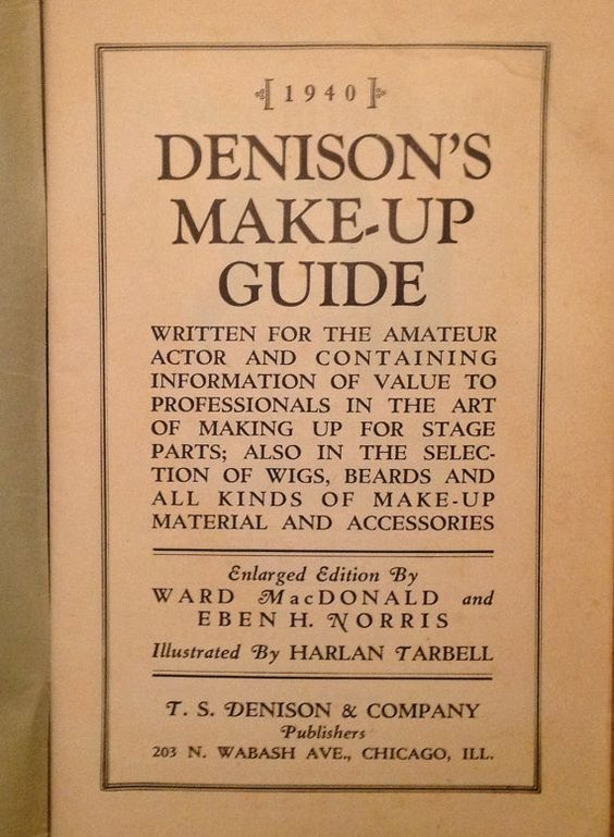 1940 Denison's Make-Up Guide book stage drama by OpenRangePreserve