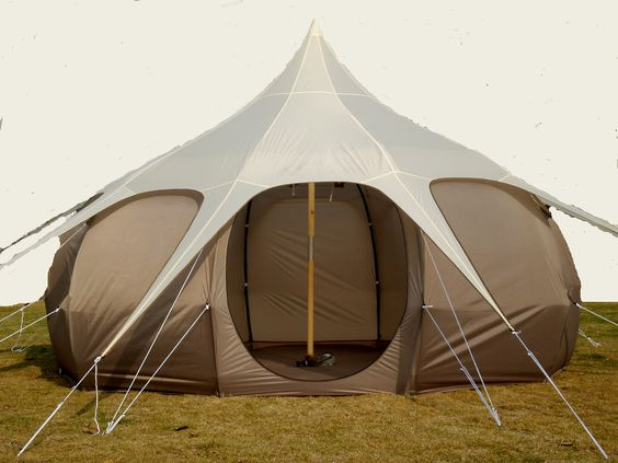 Bell Tent 6m diameter...full size bed, sofa and the kitchen sink would fit in that