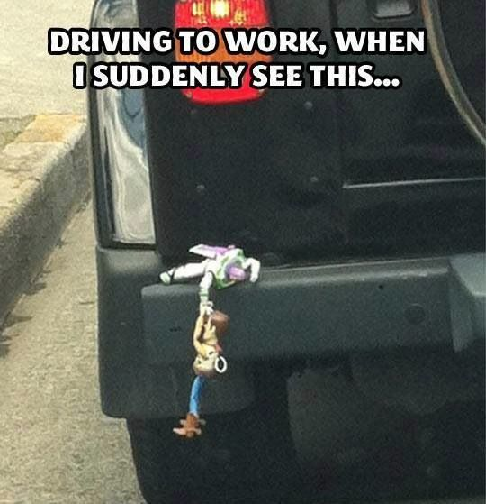 Toy Story's Buzz & Woody found in real life: