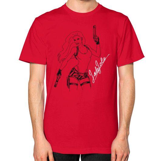 Jade Jolie 'Signature Illustration' T Shirt Unisex T-Shirt (on man)