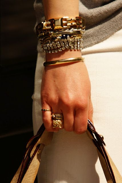 Stella & Dot #armparty featuring the Luxor Link Bracelet (photo from Bryn of Byrdie)