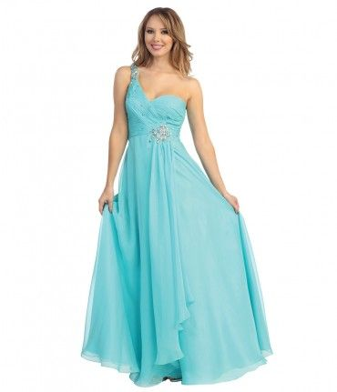 A truly gorgeous one shoulder gown featuring a glittering beaded sweetheart bodice with rhinestone burst and flattering ...Price - $50.00-maPWN3iC
