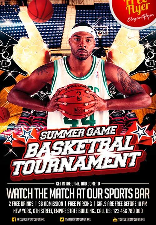 sports event flyer template xv-gimnazija