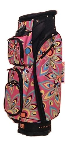 Cart Bag by Molhimawk with Loudmouth Golf Print - Pink Shag. Buy now @ ReadyGolf.com