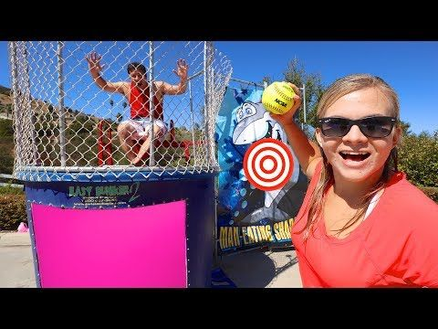 Don T Get Dunked Into The Slime Tank Youtube 5th Birthday Girls Dunk Tank Dunk