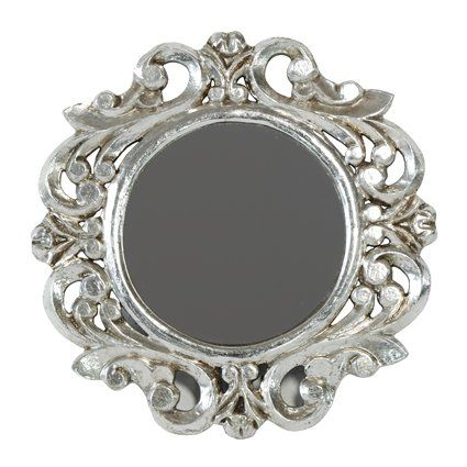 Pinterest the world s catalog of ideas for Small silver mirror