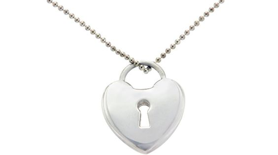 ▌TIFFANY & CO. 925 Sterling Silver Circle Heart Pendant Necklace » U422…