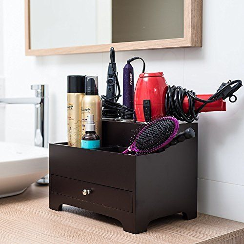 Stock Your Home Espresso Hair Care Organizer Best Offer Home Garden And Tools Shop Ineedthebestoffer Com Bathroom Organisation Bathroom Organization Diy Small Bathroom Organization