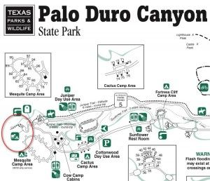 Palo Duro Canyon Park Map  I am determined to visit the canyon!