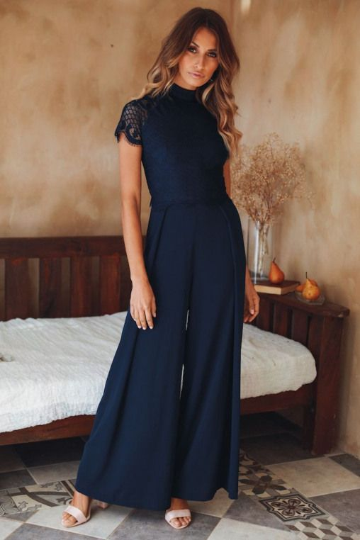 Better Than Before Jumpsuit Navy Weddingguestoutfit Wedding Guest Outfit Rom Wedding Guest Outfit Winter Wedding Attire Guest Dresses To Wear To A Wedding