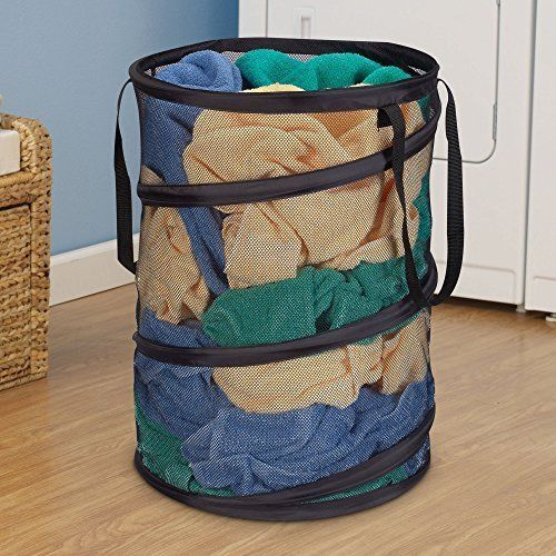 Collapsible Laundry Baskets Hampers Bag Mesh Clothes Portable