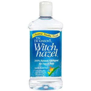 10 Health Items Every Home Needs   Yahoo! Health -  WITCH HAZEL - It can relieve discomfort from hemorrhoids (and in fact is the active ingredient in drugstore remedies such as Tucks Medicated Cooling Pads), says Amy Newburger, M.D., director of Dermatology Consultants of Westchester in Scarsdale, N.Y. For the price of 40 Tucks pads, you can buy a big bottle of witch hazel, which can also be used to relieve stinging and swelling from bug bites