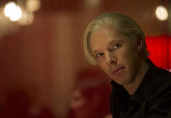 """Benedict Cumberbatch, left, stars in """"The Fifth Estate,"""" in which he seamlessly masters WikiLeaks founder Julian Assange's signature Australian accent, lisp and fey, look-at-me/don't-look-at-me demeanor (admittedly with the help of a blond wig)."""