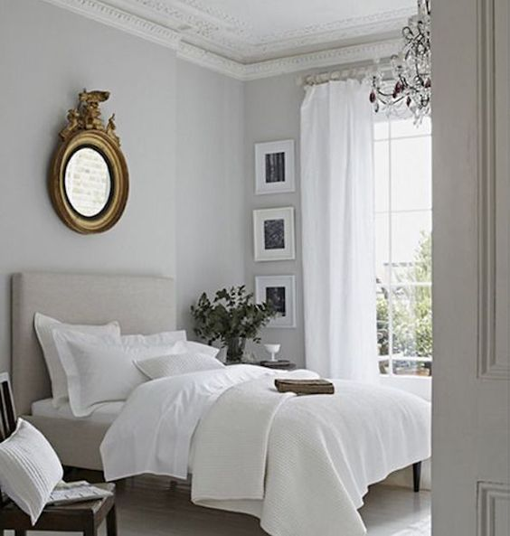 feng shui bedroom layout 2 - Gris Chambre Feng Shui