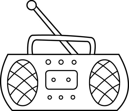Cartoon Radio Black And White Radio Clipart By Hallow