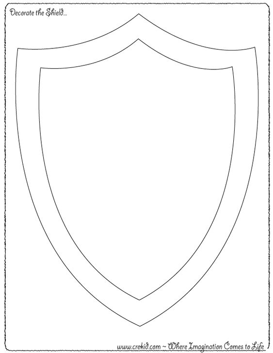 Derde klas schrijven verhaal landkaarten and kastelen on for Shield template to print