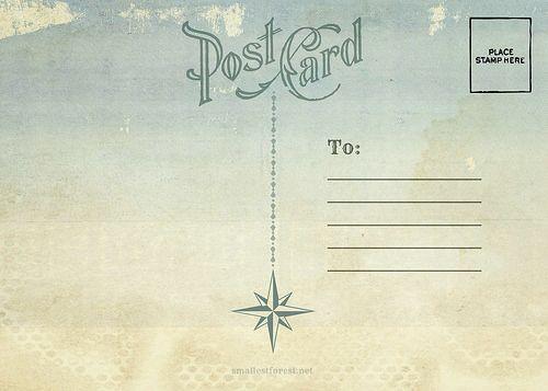 Postcard Designs       The Smallest Forest   Postcards