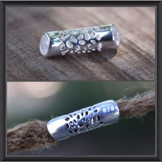 1 Sterling Silver Tube DREADLOCK BEAD 6mm Hole Dread *NEW* Hair Beads by lyndar85 on Etsy