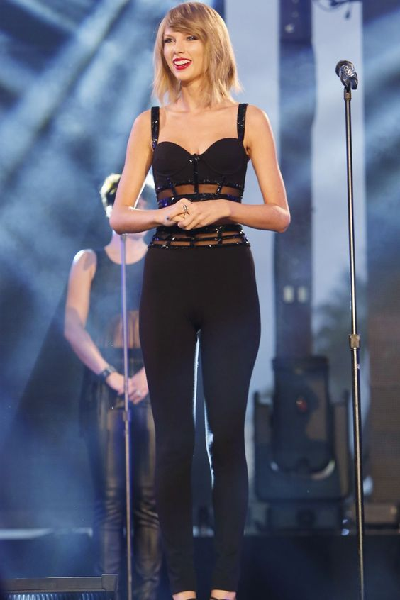 Taylor performs on Hollywood Boulevard for Jimmy Kimmel Live on Thursday Oct. 22, in Los Angeles, California.