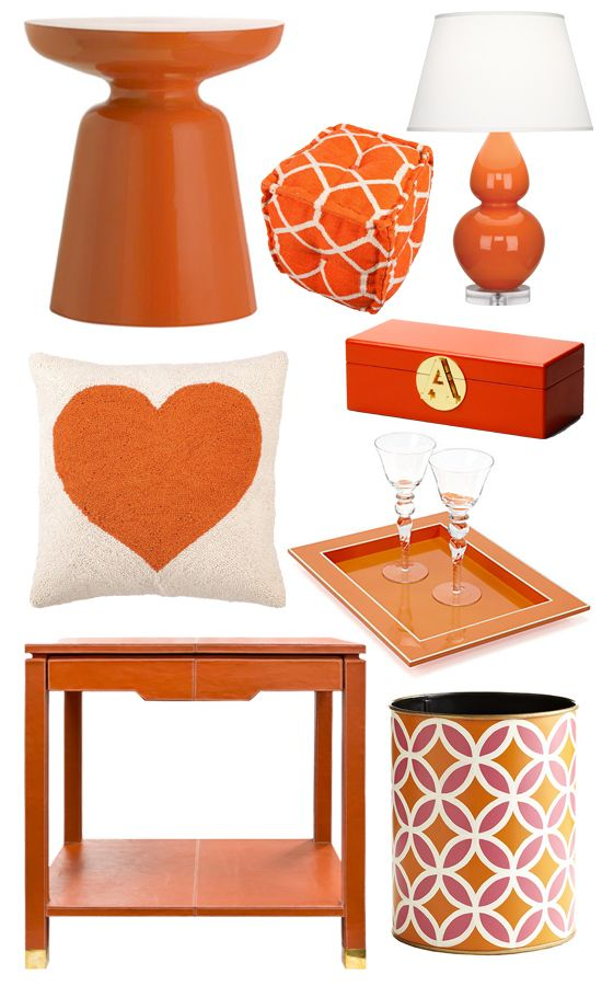 Bring Summer Inside With Bright Orange Decor  Orange home decor