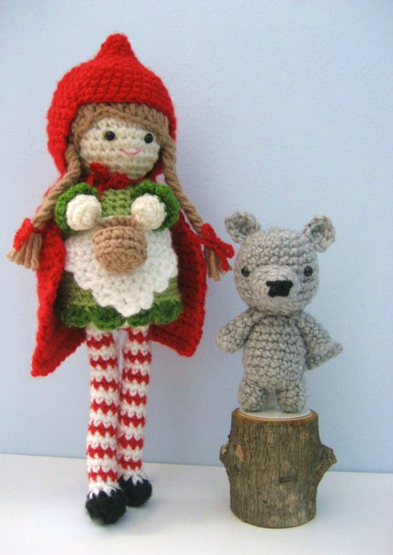 Knitting Pattern For Little Red Riding Hood Doll : Awesome, Red riding hood and Patterns on Pinterest