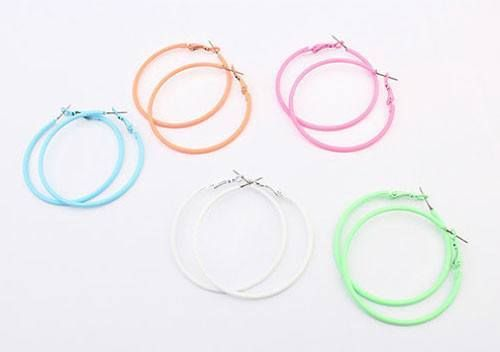 Neon Hoop Earings (3 Colors Available)