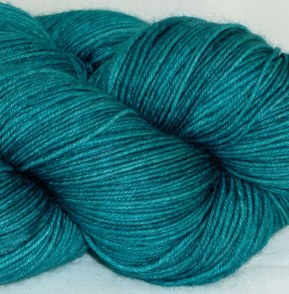 Turquoise yarn we'd love to knit into a sweater: