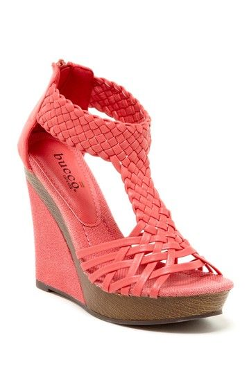 Coral Open Toe Wedge