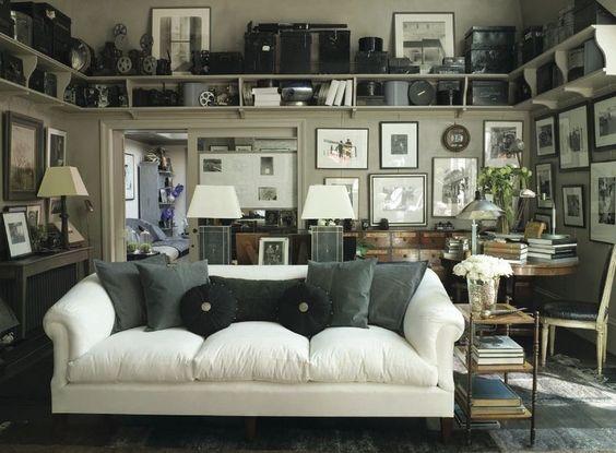 Cameras Cameras Cameras!: Interior Design, Vintage Camera, Living Rooms, Shelf Idea, Livingroom, Gallery Wall, White Couch
