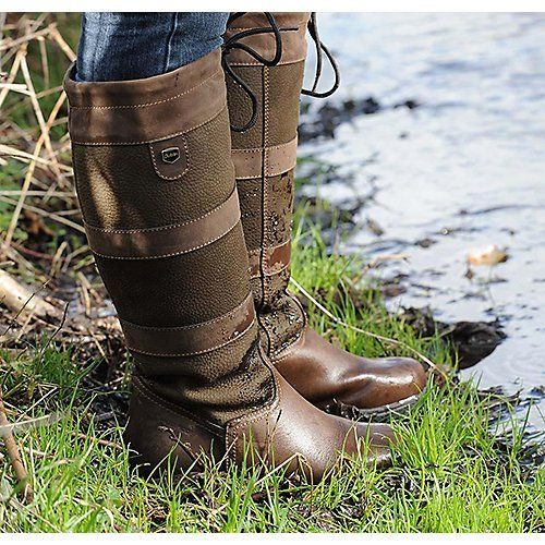 Dublin River Boots Chocolate Ladies In 2020 Wide Boots Boots Wide Calf Boots