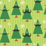 Moustache holiday trees by Marsha Gray Carrington