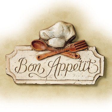 Bon appetit kitchen wall plaque kitchen themes for Art and appetite american painting culture and cuisine