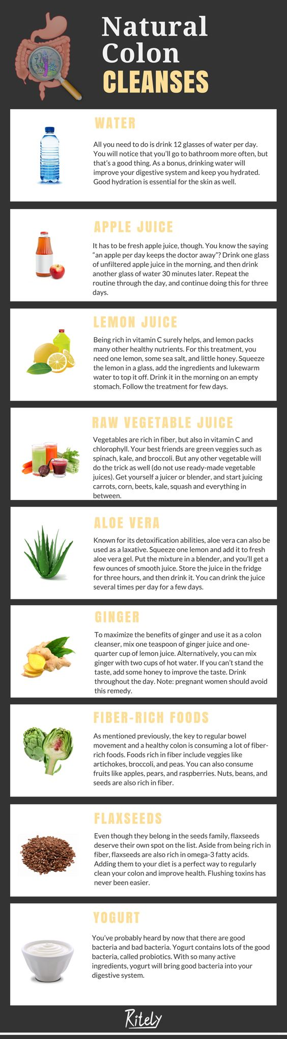 natural colon cleanse Infographic